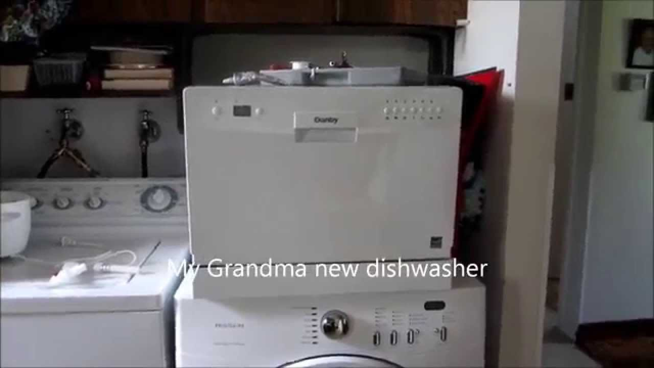 how I install a countertop dishwasher - YouTube