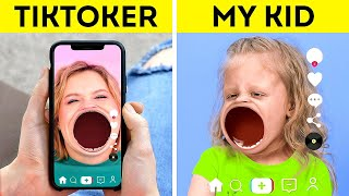 TIKTOK vs MY KID || How To Be A Cool Parent For Your KIDS