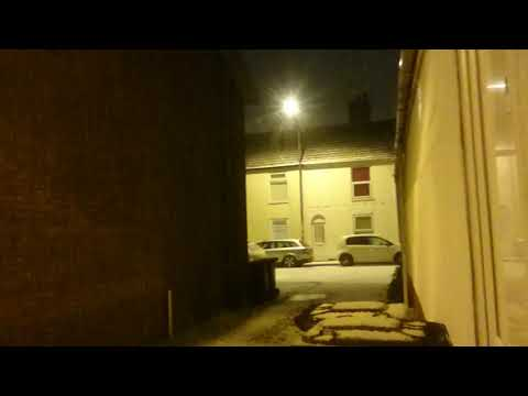 Heavy snow shower 12/12/2017 in Great Yarmouth