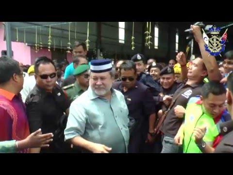 Sultan Johor di Sambutan Thaipusam 2016