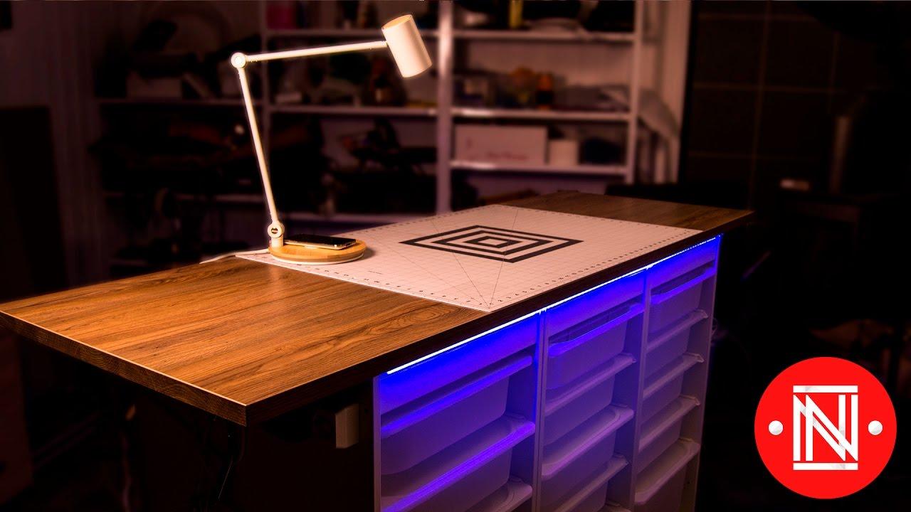 Modern Workbench Ikea Hack Diy Youtube