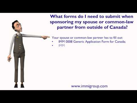 What forms I need to submit when sponsoring my spouse or