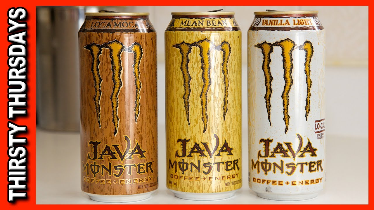 Java Monster ★ Coffee Plus Energy - Vanilla Light, Mean Bean & Loca Moca