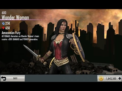 Injustice mobile on Android, Wonder Woman 600 challenge