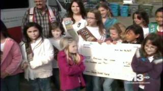 Girl Scouts   Japan Donation  KOVR CBS13  4pm  Sac, CA  04 25 2011