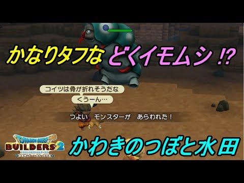 ドラゴンクエストビルダーズ2 破壊神シドーとからっぽの島 #9SWITCH版 どくイモムシとどくばり かわきのつぼで水田づくり kazuboのゲーム実況