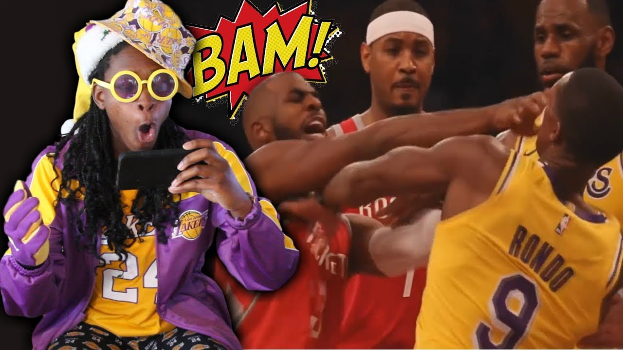 63b0a275937 LAKERS FAN REACTS TO CP3 AND RONDO FIGHT! INGRAM WAS READY TO FIGHT! Lakers  vs. Rockets Fight