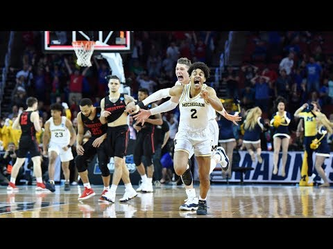 Watch last 90 seconds of Michigan\'s miraculous buzzer-beater win in 2018 NCAA tournament