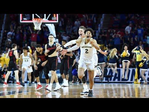 Watch last 90 seconds of Michigan\'s miraculous buzzer-beater win in 2018 NCAA tournament