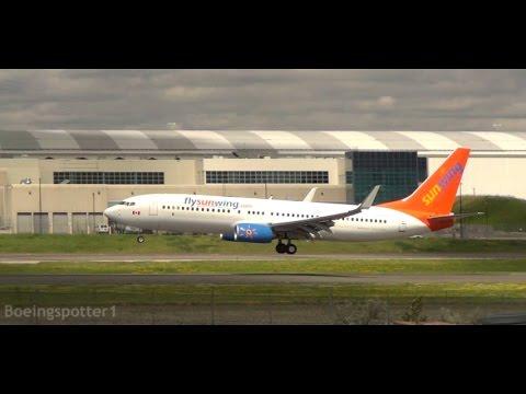 6 Various Windy Landings at Toronto Pearson International Airport