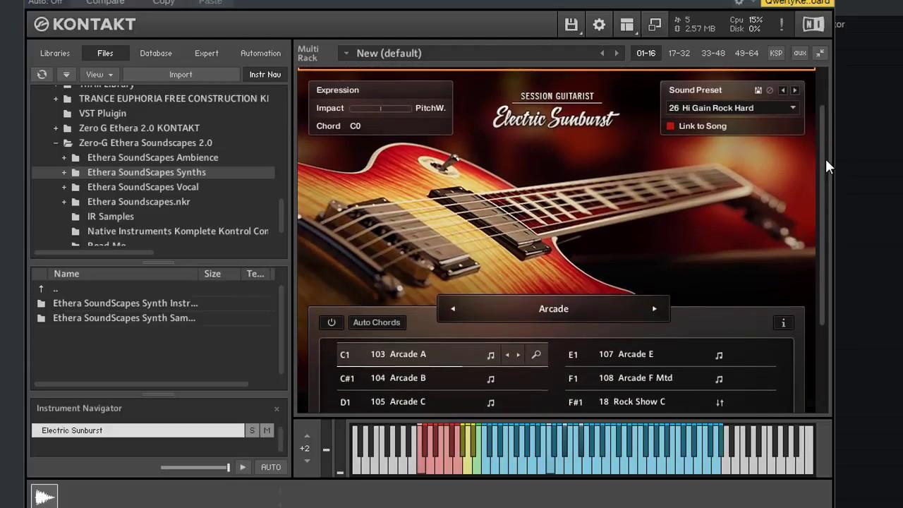 native instruments session guitarist electric sunburst kontakt download