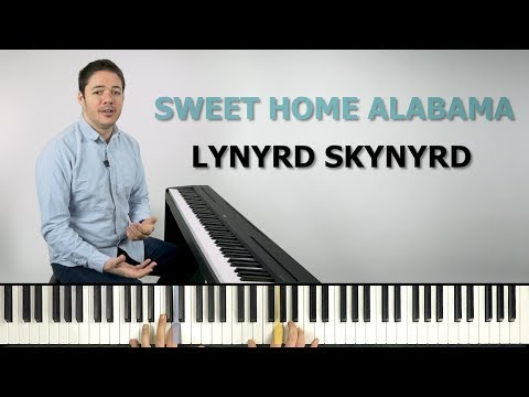 How To Play 'SWEET HOME ALABAMA' By Lynyrd Skynyrd On The Piano -- Playground Sessions