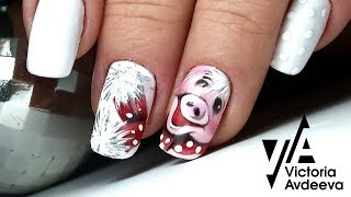 Зимний Дизайн Ногтей Свинка ТОП удивителные дизайны ногтей