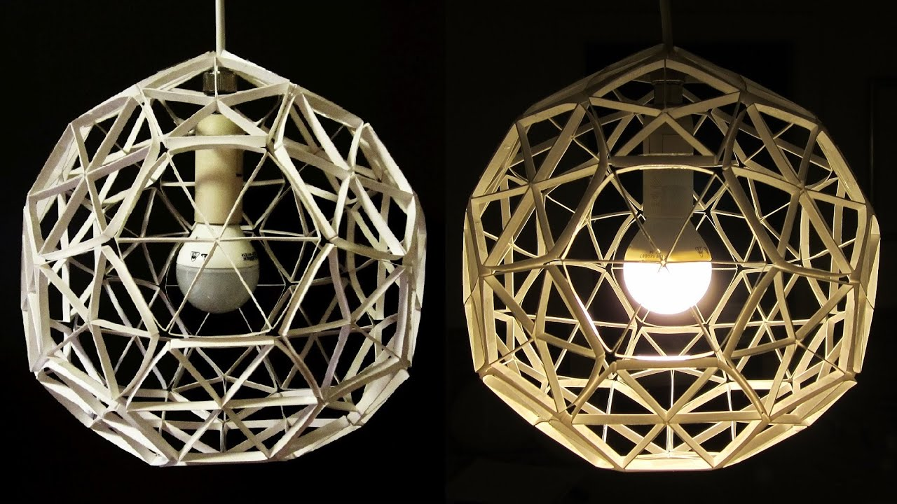 DIY lamp (geodesic sphere) - learn how to make a paper ...
