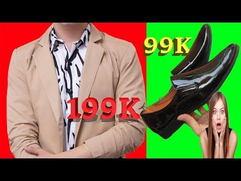Mở Hộp Và Đánh Giá Áo Vest Nam Cùng Giày Da Bóng Công Sở Giá Rẻ Cực Hài Bản 4K