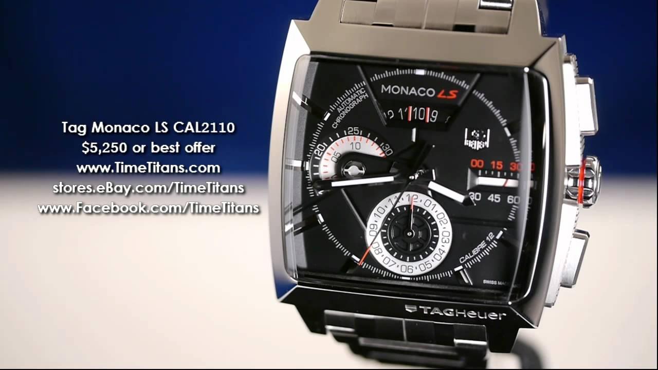 dfaffd8ce20 Tag Heuer Monaco LS CAL2110 - YouTube