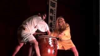 Gojinzyo-daiko Taiko-drum 御陣乗太鼓 輪島 Wajima Japan