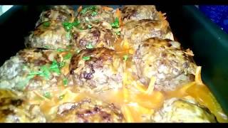 Вкусные тефтели в духовке с классической подливкой