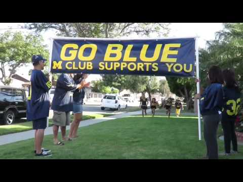 Lil Michigan Wolverines Touch The Banner