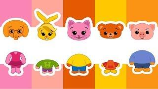 Cabezas Equivocadas Wrong Heads  Aprende los Colores y Animales   Plim Plim Juegos