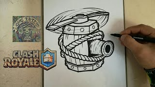 COMO DIBUJAR LA MAQUINA VOLADORA - CLASH ROYALE / how to draw flying machine - clash royale