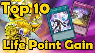 Top 10 Life Point Gain Cards in YuGiOh