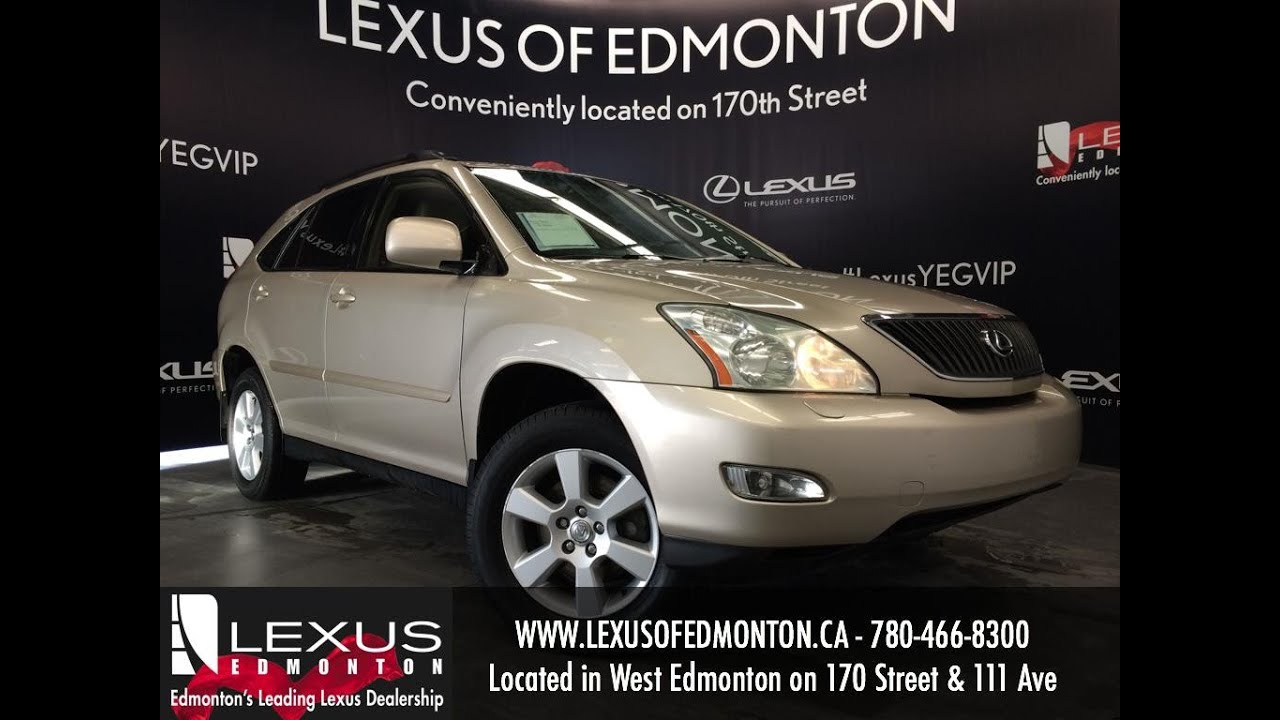 Used Gold 2004 Lexus RX 330 SUV Review   Drumer Alberta - YouTube