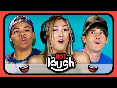 YouTubers React To Try To Watch This Without Laughing or Grinning #8