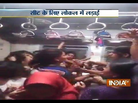 Mumbai Local Train Ladies Fight - India TV
