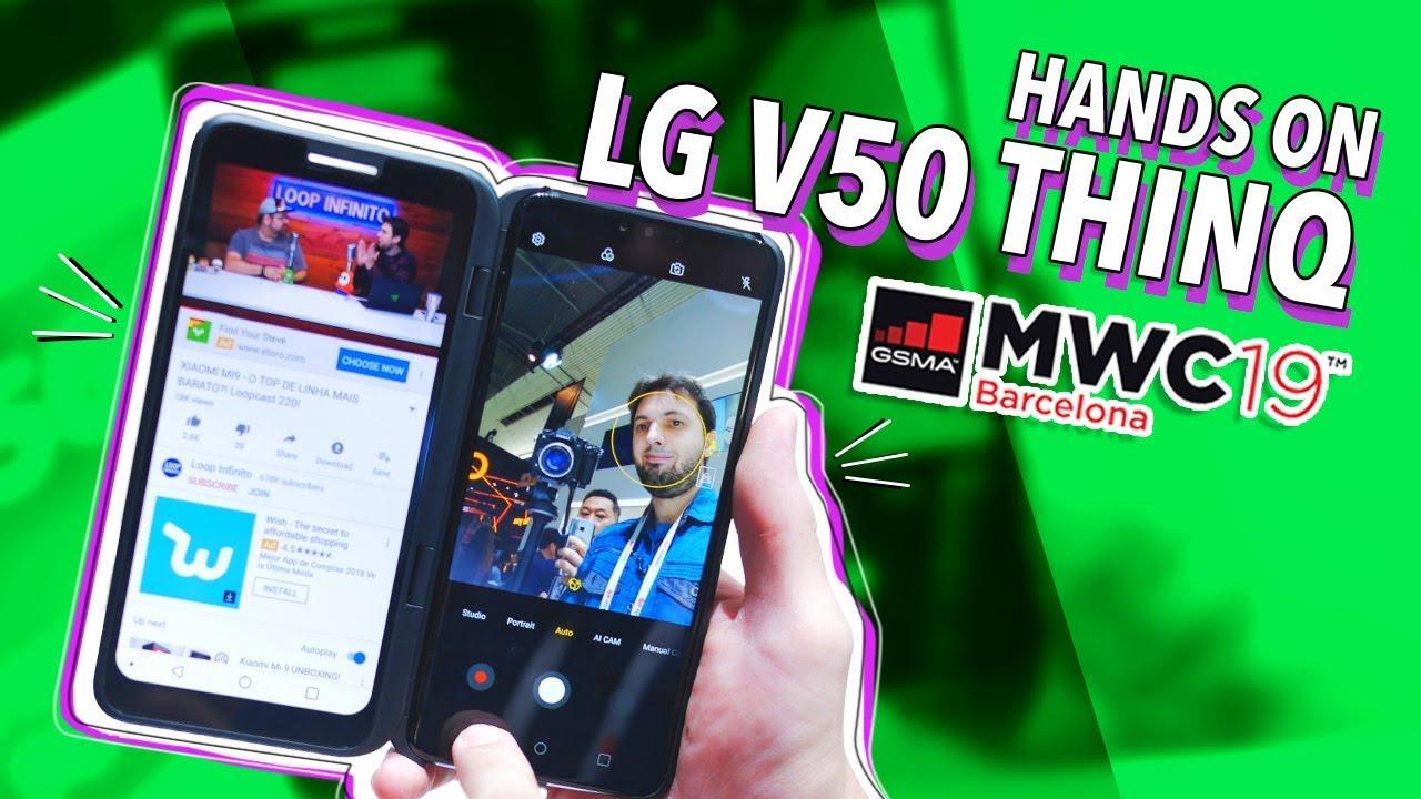 Download LG V50 COM DUAS TELAS?! (HANDS ON!)