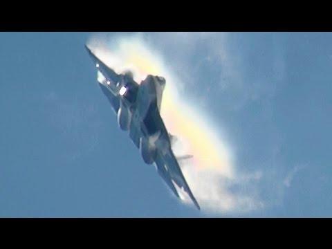 Spectacular Russian T-50 Demo MAKS 2015 PAK-FA