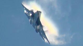 Spectacular Russian Su-57 Felon T-50 Demo MAKS 2015 PAK-FA ВКС России
