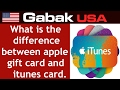 what is the difference between apple gift card and itunes card