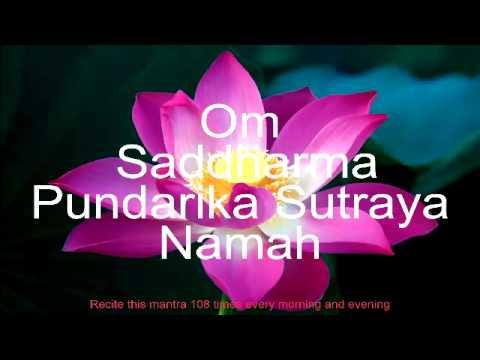 Om Saddharma Pundarika Sutraya Namah (Lotus Sutra in Sanskrit)