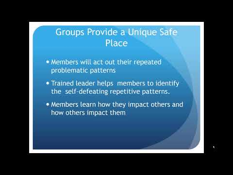 Group Therapy: The Power of the Group to Change Relationship Patterns