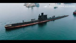 Подводница Слава последно плаване музей заснемане с дрон Bulgaria aerial Slava submarine drone