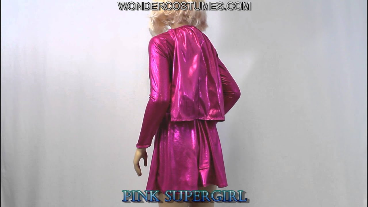 & Pink Supergirl Child Costume - YouTube