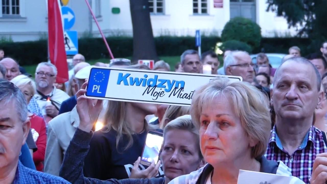 Kwidzyński protest przeciwko reformie sądownictwa