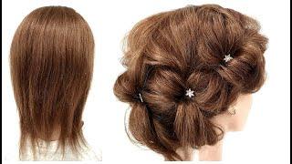 Топ 7 Легких Причесок из РЕЗИНОК для Коротких волос. Top 7 Easy Hairstyles for Short Hair
