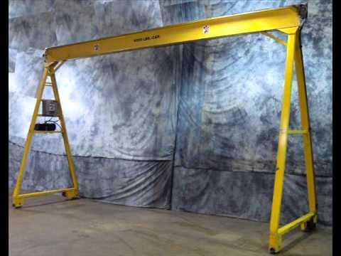For Sale MTC Hydraulic Traveling Gantry Crane System HTG 18 10T1 4000 LB Capacity