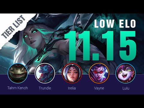 Download Season 11 LOW ELO LoL Tier List Patch 11.15 by Mobalytics - League of Legends