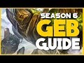 SMITE - The Complete Geb Guide and Build for Season 6 | Support and Solo