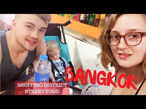 Walking around in the Bangkok shopping district and eating street food | THAILAND travel