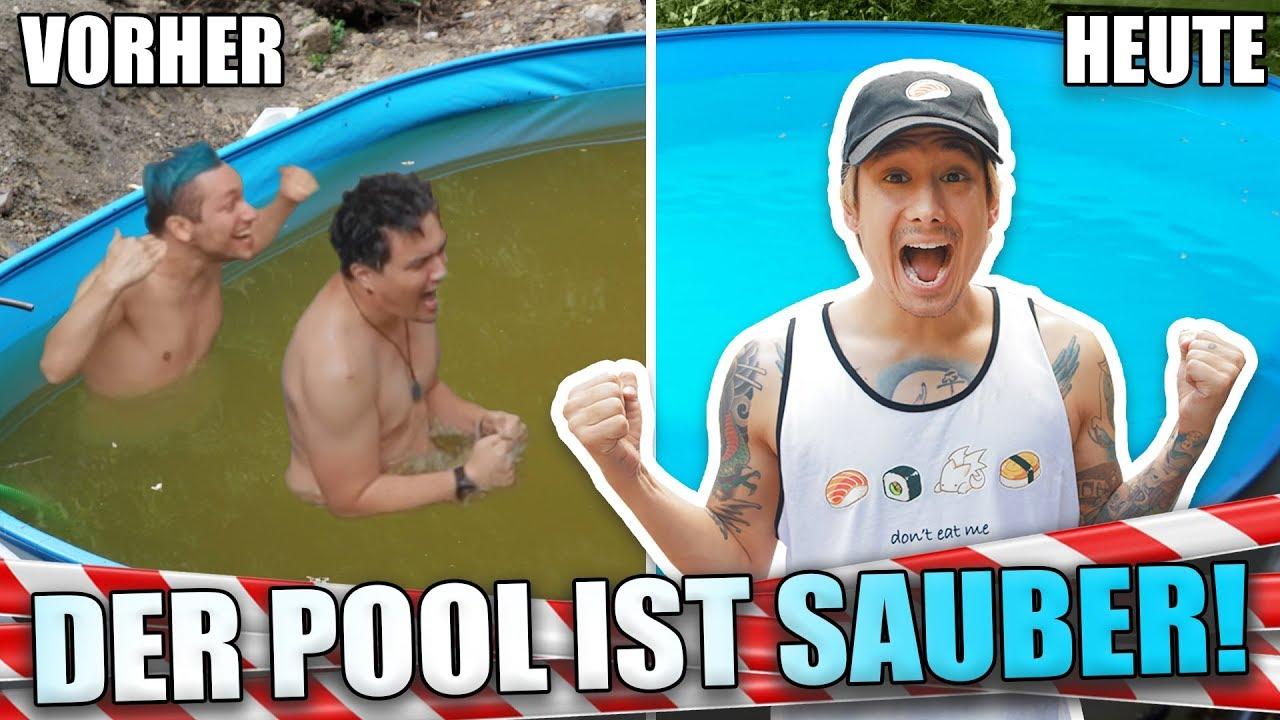 Unser POOL ist endlich SAUBER (Vince und Rezo schwimmen trz im Dreckswasser)