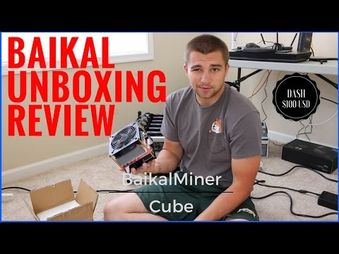 BaikalMiner Cube 300 MH/S Dash Miner Initial Review & Unboxing