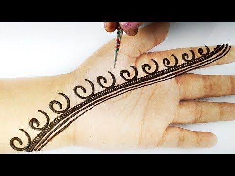 आसान मेहँदी लगाना सीखे - सुंदर अरेबिक मेहँदी डिज़ाइन - e अक्षर से मेहँदी, Rakhi Special Mehndi design
