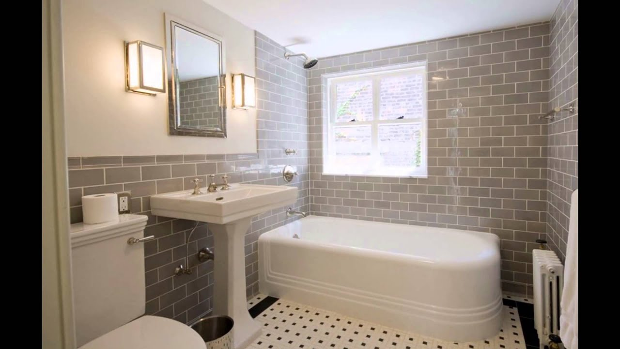 Not Using Tiles Bathroom Ideas: Modern White Subway Tile Bathroom Designs Photos Ideas