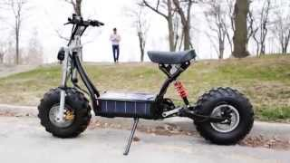 The Beast  - Electric bike/scooter from canada with monster wheels