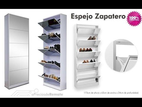 mueble zapatero con espejo capacidad para 20 pares