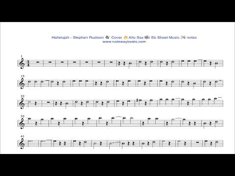 Hallelujah - Stephen Rudison 🔥Alto Sax 🎼 Eb  🎧 notes